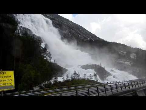 Langfossen waterfall (Norway, Hordaland)