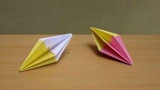 How to Make a Paper Diamond (Christmas Decoration) - Easy Tutorials