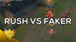 Rush vs. Faker - Korean Solo Queue Funny Moments & Highlights