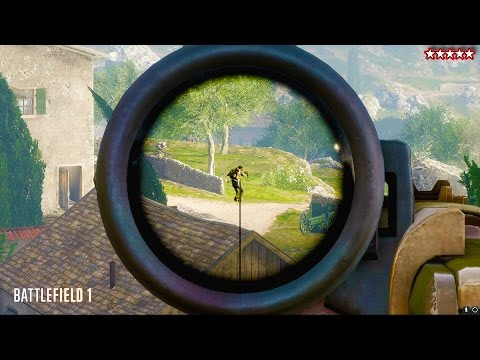 BATTLEFIELD 1 SNIPER ATTACK - BATTLEFIELD 1 SNIPER GAMEPLAY - BF1 Multiplayer Gameplay
