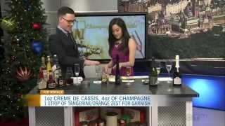 Sparkling Wine Cocktails as seen on CTV Morning Live Ottawa Dec 31 2014
