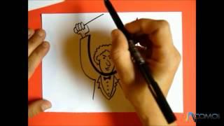 Dibujar un hombre con la letra U - Draw with the letter Z