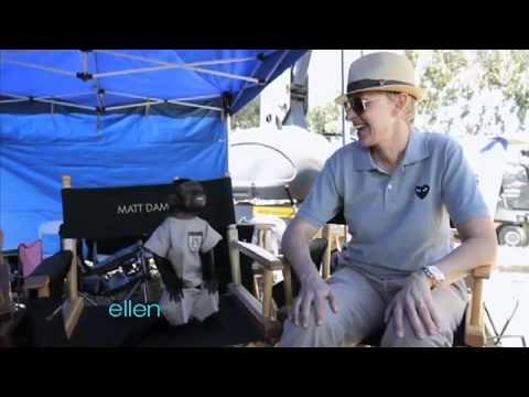 Ellen Meets a Monkey!