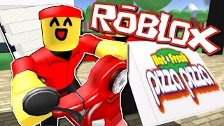 WORKING AT A DELIVERY PIZZA PLACE | Roblox