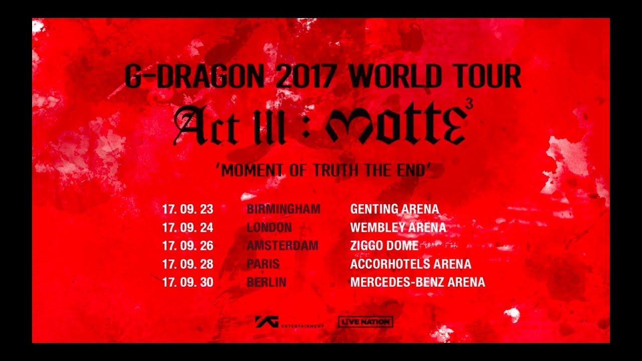 G-Dragon World Tour 2021