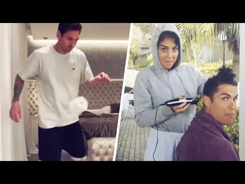 What are Lionel Messi and Cristiano Ronaldo doing during lockdown? | Oh My Goal