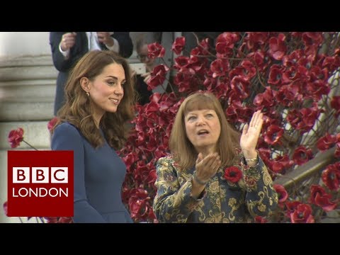 Duchess of Cambridge reads WWI family letters - BBC London