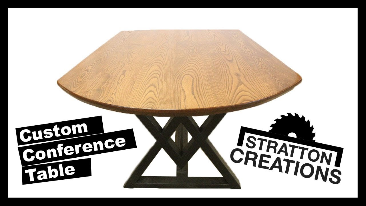 Steel Base Conference Table Woodworking How To Build YouTube - Build a conference table