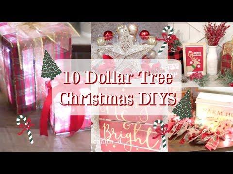 10 DOLLAR TREE CHRISTMAS DECOR DIYS   FARMHOUSE & TRADITIONAL DECOR