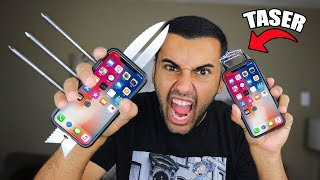 MOST DANGEROUS iPHONE OF ALL TIME!! (ZOMBIE WEAPON DIY!) DANGER ALERT!