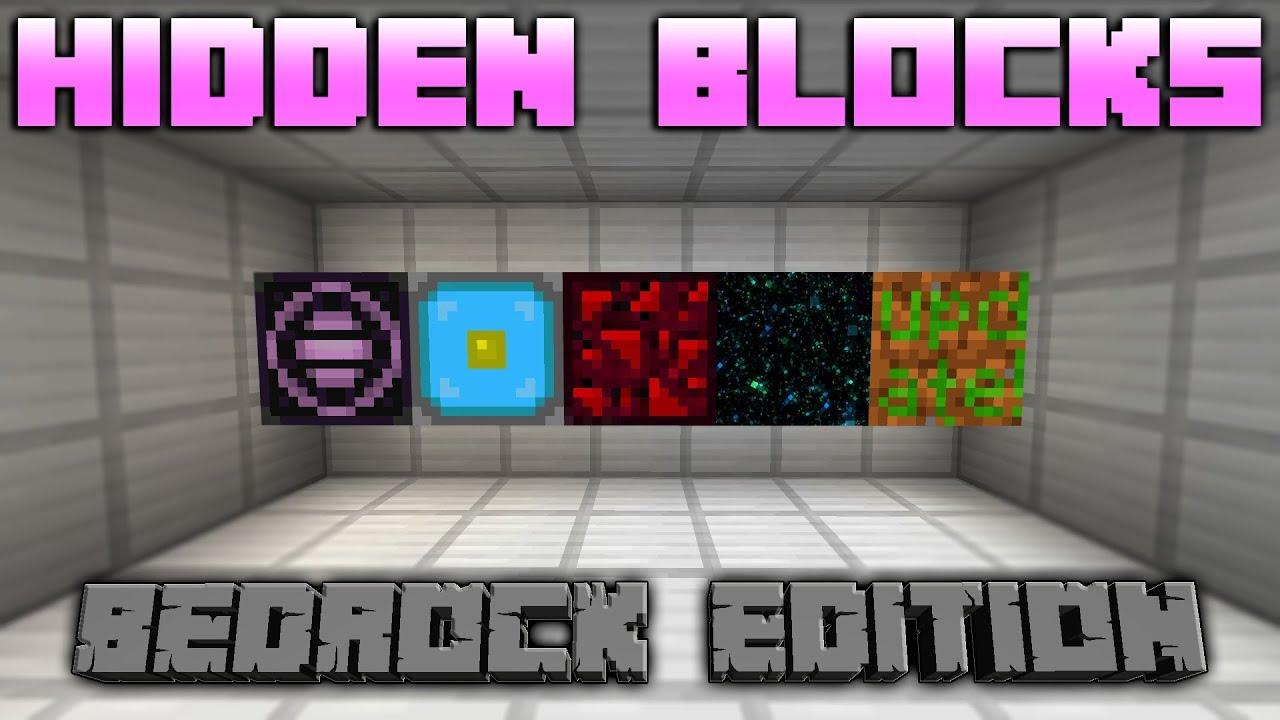 Minecraft Hidden Secret Blocks On The Bedrock Edition Youtube