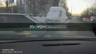 Смотреть видео ДТП 25.01.2019 Москва, настигла Питерская Армения! онлайн