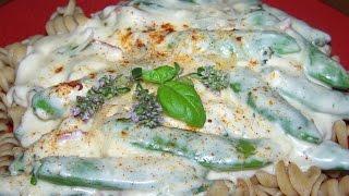 Cream Sauce, Garlic, Snap Peas,  Herb, Pasta 1/2
