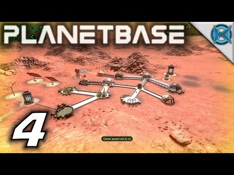 "Planetbase Gameplay / Let's Play (S-1) -Ep. 4- ""Solar Flare Malnutrition & Spares"""
