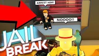 CRAZIEST COP ESCAPE IN ROBLOX JAILBREAK