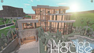 ROBLOX BLOXBURG: Mansion Modern House    House Build