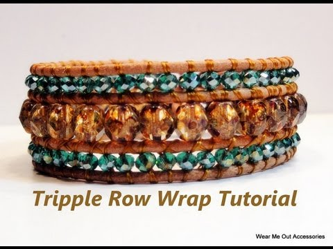Diy Triple Row Leather Wrap Bracelet Part 1 Youtube