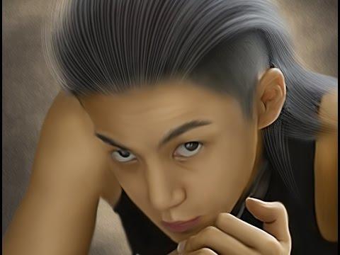 smudge painting simple hair tutorial