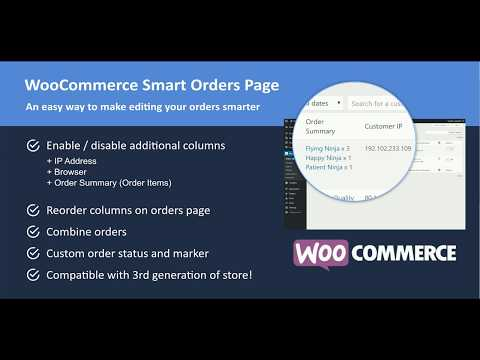 WooCommerce Smart Orders Page