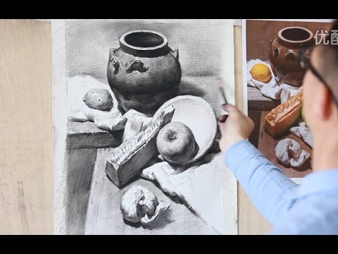 Drawing Still Life in Pencil and Charcoal