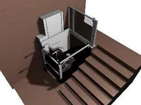 Plataforma elevadora vertical para silla de ruedas makalu for Plataforma para silla de ruedas