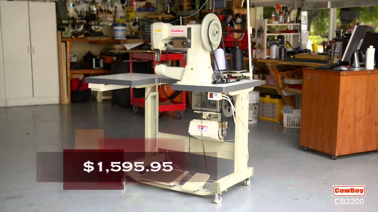 Maquina de coser para guarnicionería, marroquinería