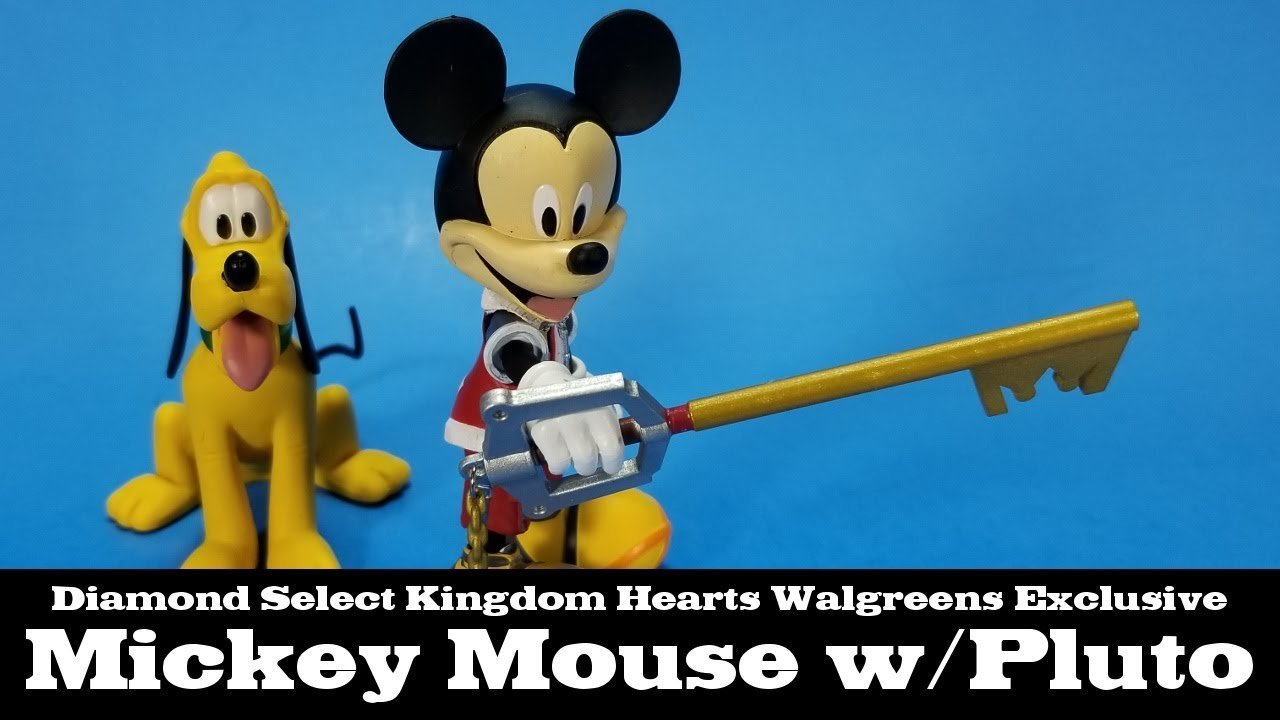 Disney Kingdom Hearts Mickey with Pluto Action Figures Walgreens Exclusive