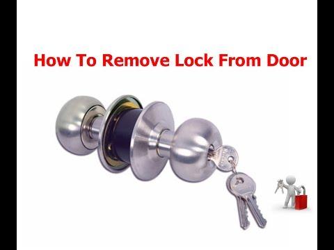 How To Remove Handle Lock From The Door