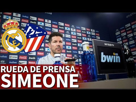 Real Madrid vs Atlético   Rueda de prensa de Simeone   Diario AS