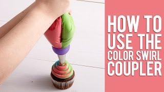 Learn How To Pipe 3-Color Icing Swirls | NEW 3-Color Coupler Tutorial