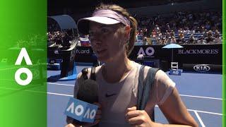 Maria Sharapova on court interview (1R) | Australian Open 2018