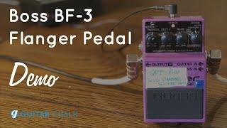 boss bf 3 flanger settings demo