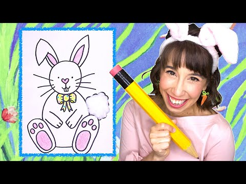 How To Draw A Bunny Rabbit For Kids | Draw Along With Bri Reads