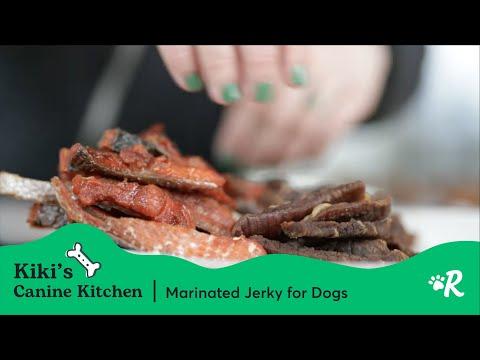 Marinated Jerky For Dogs | Kiki's Canine Kitchen