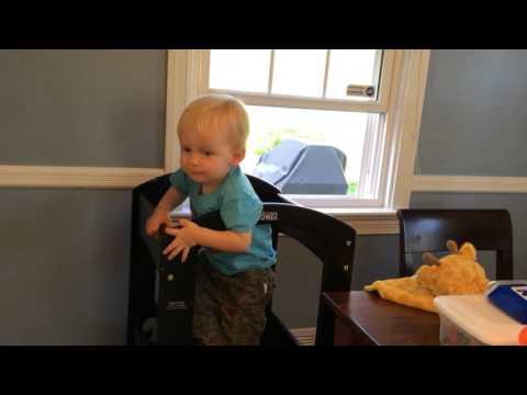 Everett practicing words