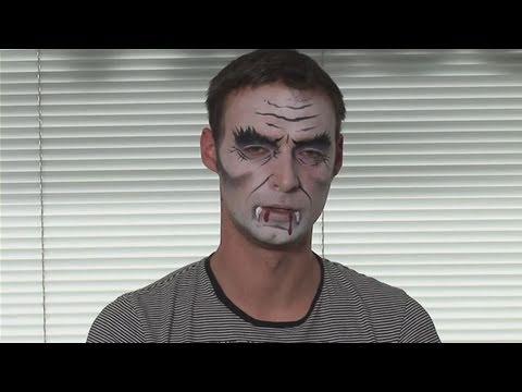 Adult dracula face paint
