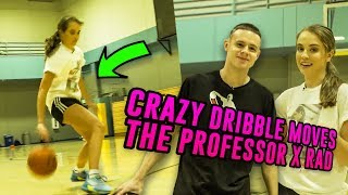 The Professor Teaches STREETBALL Moves To Rachel DeMita! Behind The Back In & Out Tutorial 😱