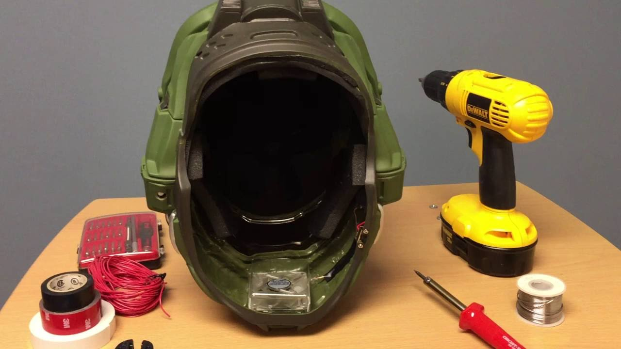 Cooling fan added to Master Chief Ultra Prestige Helmet