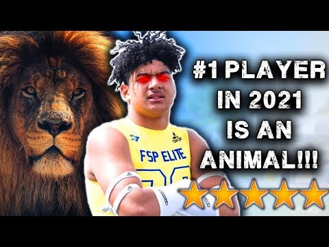 #1 Player In The Class Of 2021 Is An *ANIMAL*- JT Tuimoloau Highlights [Reaction]