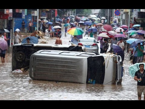 Massive World FLOODS, CHINA Worsens 300 more dead 8.6 Million affected - See DESCRIPTION