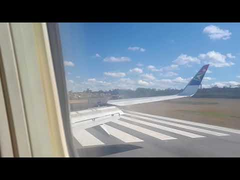 Hard landing at windy East London Airport.