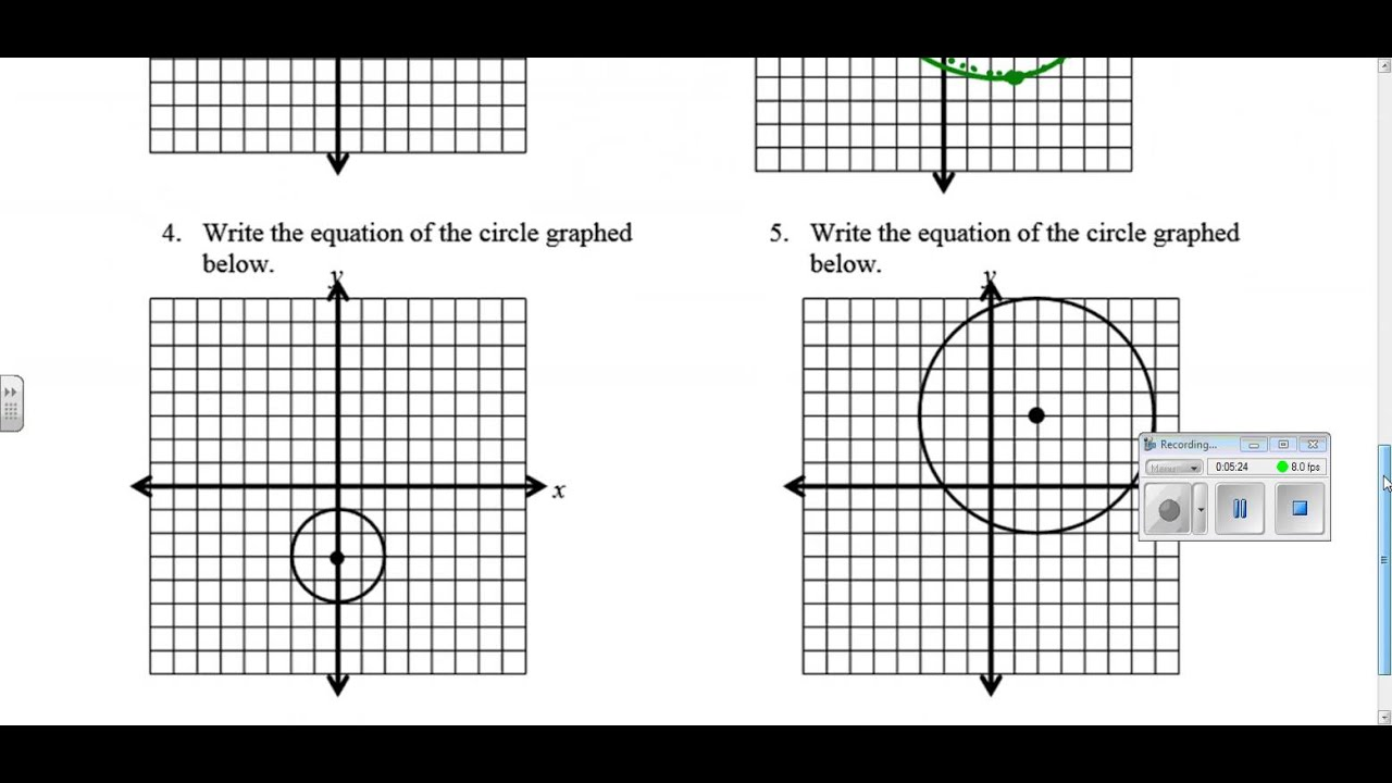 worksheet Images Of Coordinate Planes circles in the coordinate plane youtube