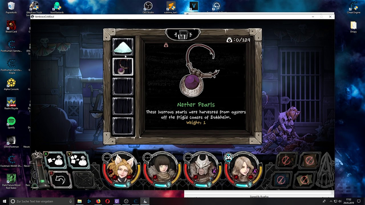 COMPLETED] Vambrace cold soul cheat table (Request) - FearLess Cheat