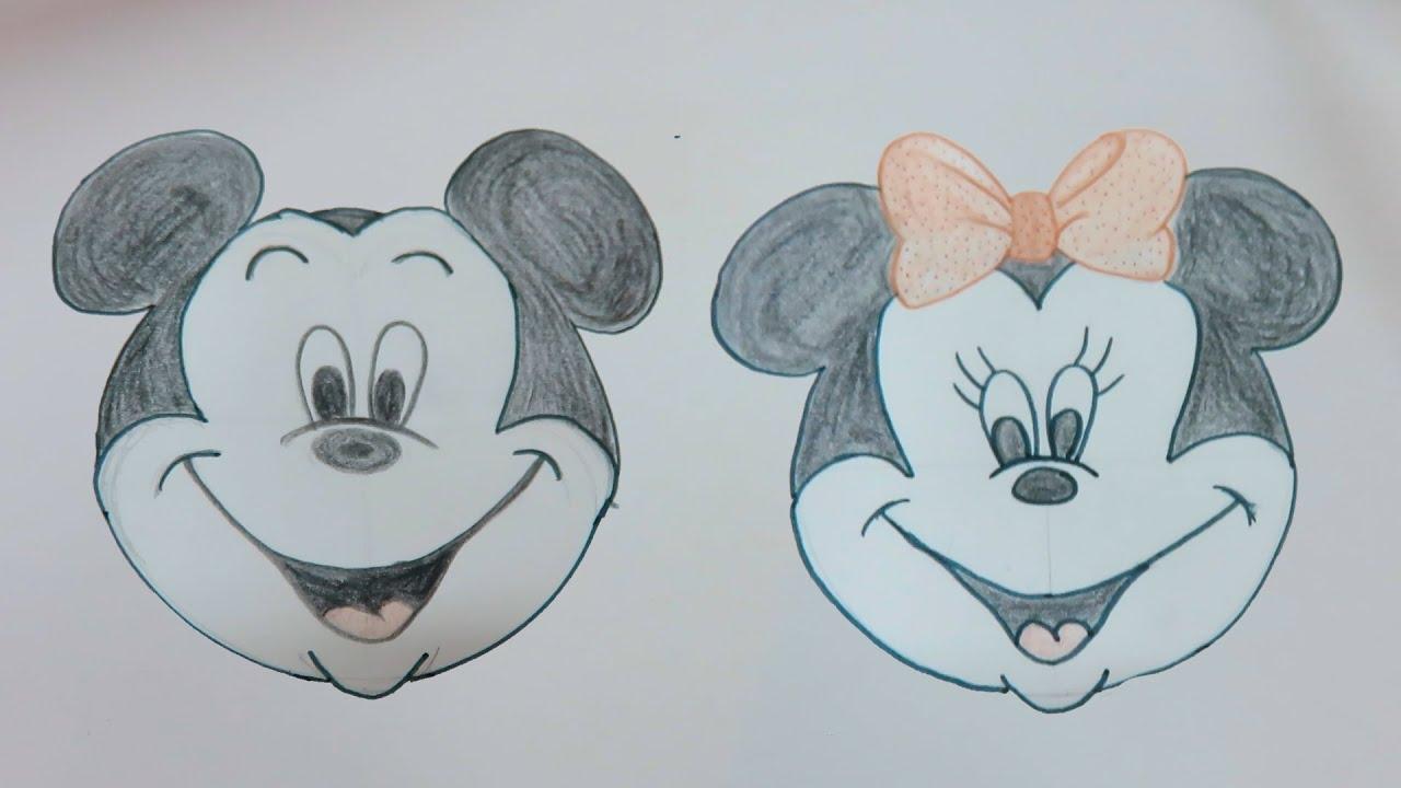 Uncategorized Minnie And Mickey Mouse Drawing drawing tutorial disney mickey mouse minnie by playdoh cap youtube