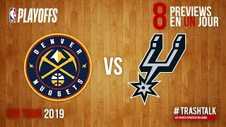 NBA Playoffs 2019 : Nuggets - Spurs, la preview !