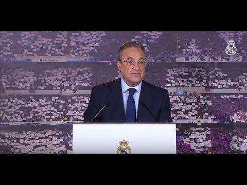 Acto de proclamación de Florentino Pérez como presidente del Real Madrid y de su Junta Directiva