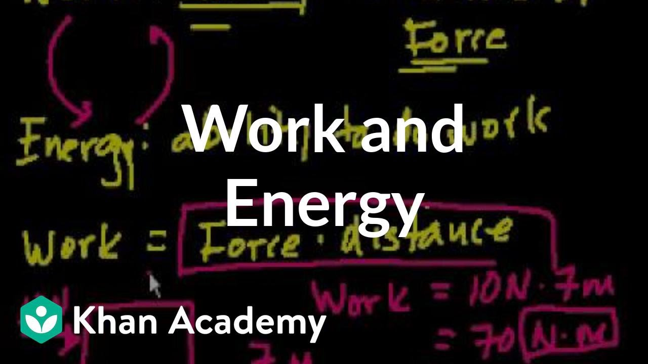 Introduction to work and energy (video)   Khan Academy [ 720 x 1280 Pixel ]