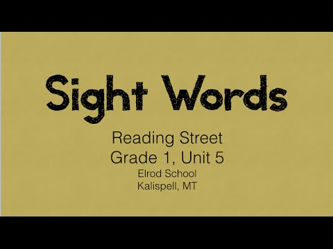 Reading Street Grade 1, Unit 5 Sight Word Review