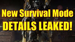 Fallout 4 Gameplay - New Survival Mode Details LEAKED!!