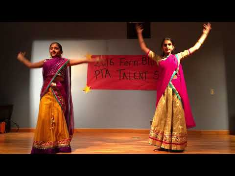 Ashmita and Sahiti Dance for Mahaganapati in Fern Bluff Elementary School